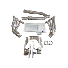 Engine Transmission Mounts Kit Header Oil Pan Exhaust Y For BMW E46 LS1 LSx T56