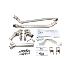LS1 Engine T56 Trans Mount Header Oil Pan Exhaust Oval Y Pipe for BMW E30 LS
