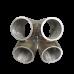 "11 Gauge 304 Stainless Steel 4-1 Header Manifold Merge Collector T3 45mm 1.75"""