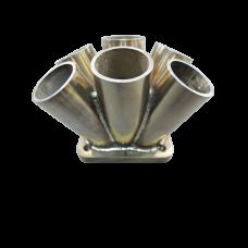 "11 Gauge 6-1 Header Manifold Merge Collector T4 1.75"" T4 Flange SS 304"