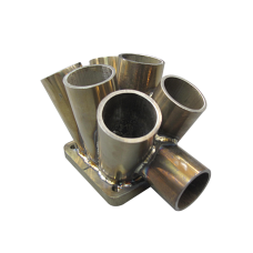 "11 Gauge 6-1 Header Manifold Merge Collector T4 48mm 1.9"" Wastegate Tube S"