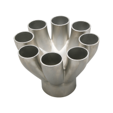 """304 Stainless Steel Cast 8 to 1 Merge Collector 1.65""""-1.9"""" Primaries 3.5"""" Outlet"""