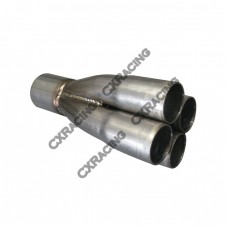 "4-1 Exhaust Header Manifold Tube Merge Collector 1.6"" 2.5"""