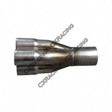 "4-1 Exhaust Header Manifold Tube Merge Collector 1.75"" 2.5"""