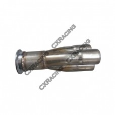 "3-1 Exhaust Header Manifold Tube Merge Collector 2.5"" V-Band"