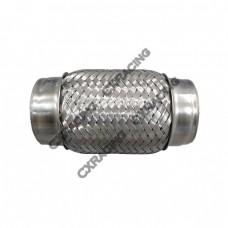 "2.5"" X 6"" Exhaust Muffler Flex Pipe Stainless Steel"