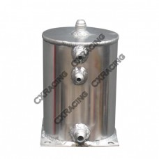 """Aluminum Fuel Surge Tank 5"""" Round x7"""" H Works For Many Applications"""