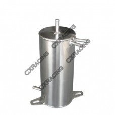 """Aluminum Fuel Surge Tank 4"""" Round x9"""" H Works For Many Applications"""