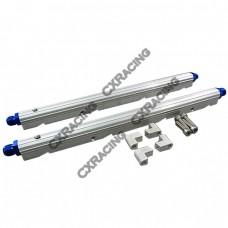 CNC Billet Aluminum Fuel Rail Fitting AN6 Kit For GM LS1 - LS9