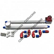 Billet Fuel Rail Fitting AN8 + Gauge Regulator + Oil Fitting For GM LS1 LS7