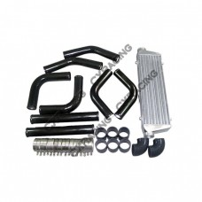 "28x7x2.5"" INCH TURBO INTERCOOLER + 2.5​"" PIPING PIPE KIT For MAZDA"