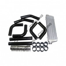 28x7x2.5 inch Intercooler + Turbo Piping Kit for Mazda MX-3 RX-7 MX-6