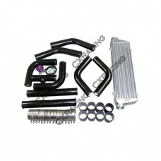 "BOV +  28""x7""x2.5"" TURBO INTERCOOLER PIPING KIT For 240SX KA24DET SR20DET"
