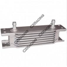 "Aluminum Oil Cooler 6.5"" Core 7 Row, 3/8"" Inlet Hi Performance"