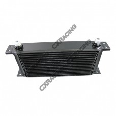 "Aluminum Oil Cooler 11"" Core 16 Row AN8 Fitting Hi Performance Black"