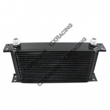 "Aluminum Oil Cooler 11"" Core 19 Row AN10 Fitting Hi Performance Black"