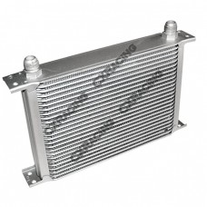 "Aluminum Oil Cooler 11"" Core 25 Row AN10 Fitting Hi Performance"