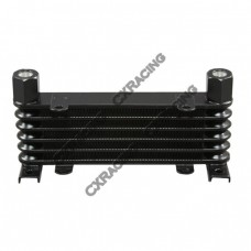 "Aluminum Oil Cooler 6 Rows, NPT 3/8"" Fitting Hi Performance"
