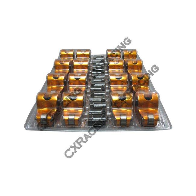 "Aluminum ROLLER ROCKER ROCKERS ARMS Kit 1.72"" 7/16 For SBC"