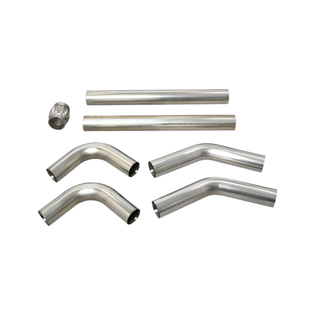universal stainless piping kit 2 5 u0026quot  8 pcs 45 90   exhaust