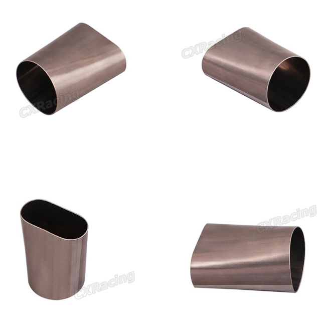 Round Steel Pipes : Quot oval degree stainless steel pipe round coverter