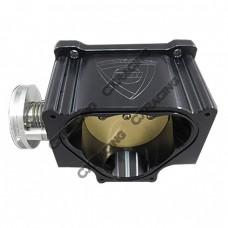90mm CNC Cut Billet Black Aluminum Throttle Body For 92-02 RX7 FD