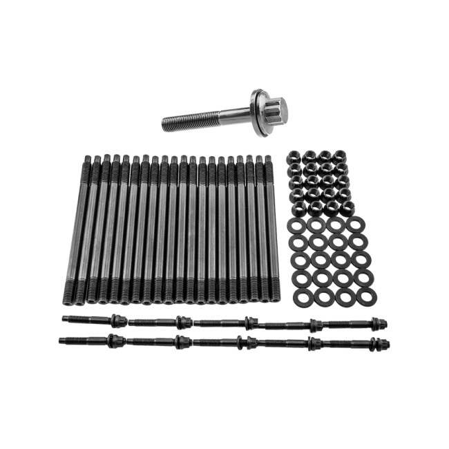 Head Stud Bolt Kit + Crank Crankshaft Bolt For GM Chevy LS