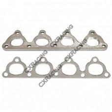 Exhaust Manifold Steel flange  + Gasket For Honda Civic D15 D16