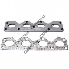 Exhaust Manifold Steel flange  + Gasket For 89-97 Mazda Miata 1.6L