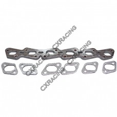 Exhaust Manifold Steel flange  + Gasket For Nissan RB20DET/RB25DET
