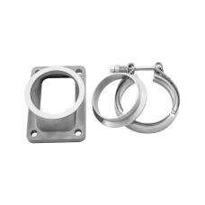 "T6 Turbo to 3"" V-Band 304 Stainless Steel Cast Flange Adapter Converter"