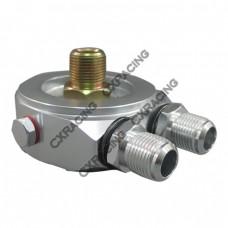 """Oil Filter AN8 Cooler Sandwich Adapter For GM LS1 LSx LQx LMx 13/16"""" Thread"""