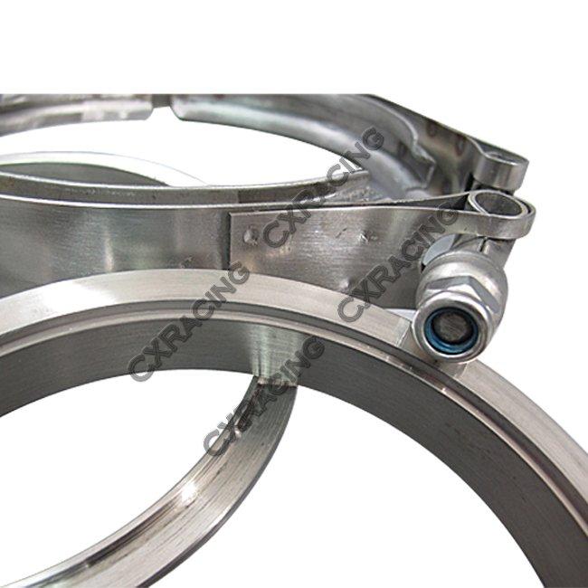 Quot self aligning v band vband clamp flange kit turbo
