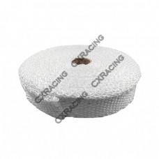 "Exhaust Heat Header Wrap 1"" x 1/16"" x 10M White"