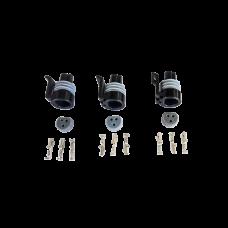 Oil Fuel TPS Pressure Sensor Connector Plug Terminal for GM LS1 LSx 3pc