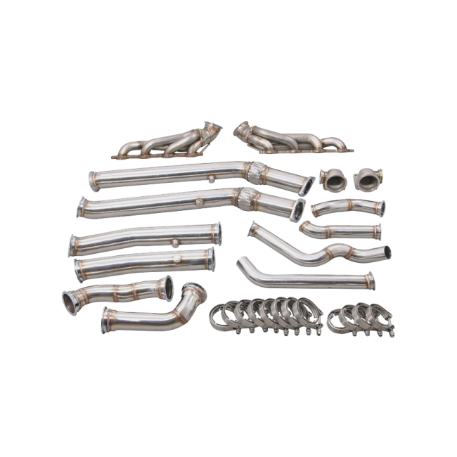 twin manifold header downpipe for pontiac gto holden monaro ls1 ls2