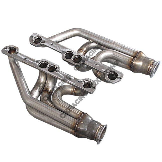 Twin Single Turbo Header For Small Block Chevy SBC GM 265