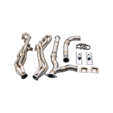 Long Tube Headers Exhaust Y Kit + Engine Mount for 94-04 Chevrolet S10 S-10 LS