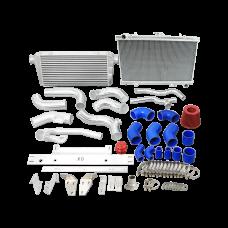 Intercooler Radiator Piping Kit For 86-91 RX7 RX-7 FC 2JZ 2JZGTE