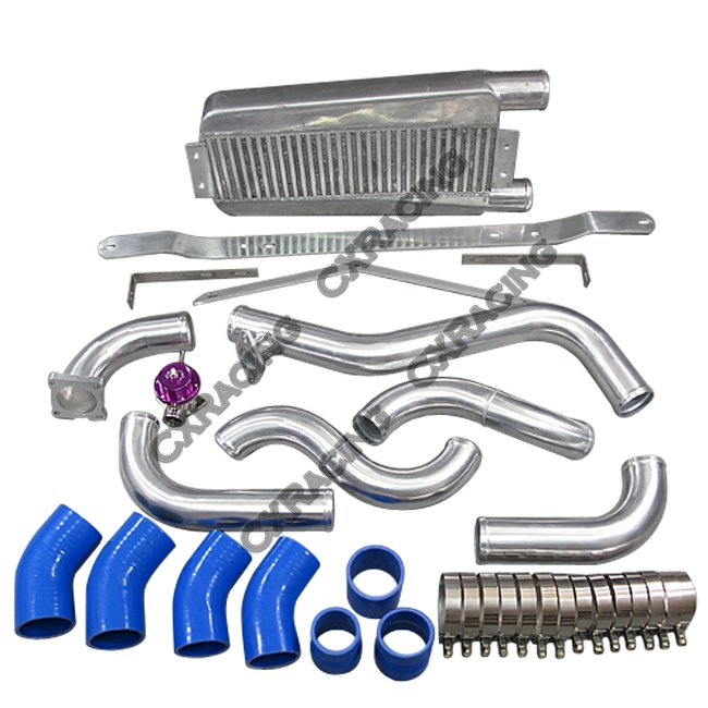 Intercooler Piping Kit For 95-99 Eclipse Talon DSM 2G UPG Blue Hoses
