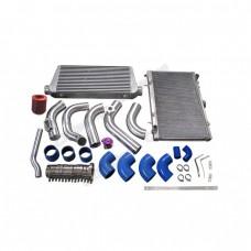 Intercooler Piping Intake Radiator HardPipe Kit For 2JZ-GTE 2JZ Swap 240SX S13 S14 Single Turbo