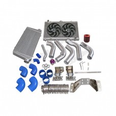 Intercooler Piping Engine Transmission Mount Rad Fan Kit For 240SX S13 S14 2JZ-GTE 2JZGTE