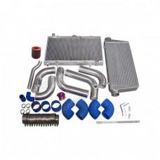 Intercooler Piping Intake Radiator HardPipe Kit For 2JZGTE 2JZ-GTE 2JZ Swap 240SX S13 S14 Stock Turbo