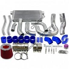 Intercooler Kit Turbo Intake Radiator Piping For SC300 2JZGTE TT Turbo