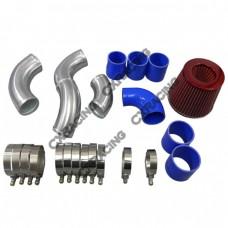 Intercooler Hard Pipe Kit + Turbo Intake + Air Filter For 05-08 Audi A4 (B7) 2.0T