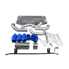 FMIC Intercooler Kit + Cold Intake Pipe and HeatShield For 02-05 Audi A4 B6 1.8T Turbo