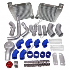 Twin Turbo Intercooler Piping BOV Kit For 64-67 Chevelle BBC Big Block 396 402 427 454