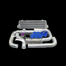 Tube & Fin Intercooler Piping Kit + BOV For 88-00 Civic D D16 B16 B18