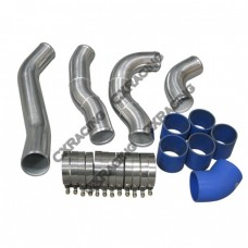"""Double Core 3.5"""" Intercooler Kit For 99-03 Ford Super Duty 7.3L Diesel F250 F350"""