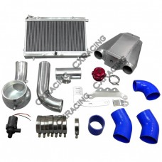 Air-Water Intercooler Piping Heat Exchanger Kit For 64-68 Mustang 289/302 V8 SBC